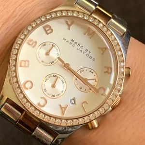 Accessories - Marc Jacobs silver and rose gold watch